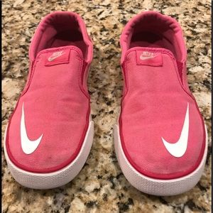 Nike Pink With Red Trim Sneakers